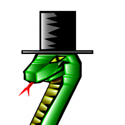 Snake with a top hat